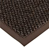 Notrax 136 Polynib Entrance Mat, for Lobbies and Indoor Entranceways, 4' Width x 8' Length x 1/4'' Thickness, Brown