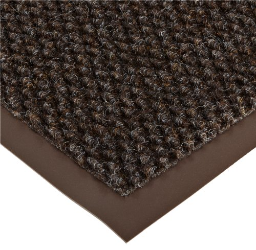 Notrax 136 Polynib Entrance Mat, for Lobbies and Indoor Entranceways, 4' Width x 8' Length x 1/4'' Thickness, Brown by NoTrax