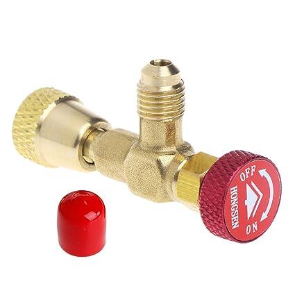 YUYUE21 (1pc Adaptador de válvula Especial para líquido y Aire Acondicionado HS-1221 (