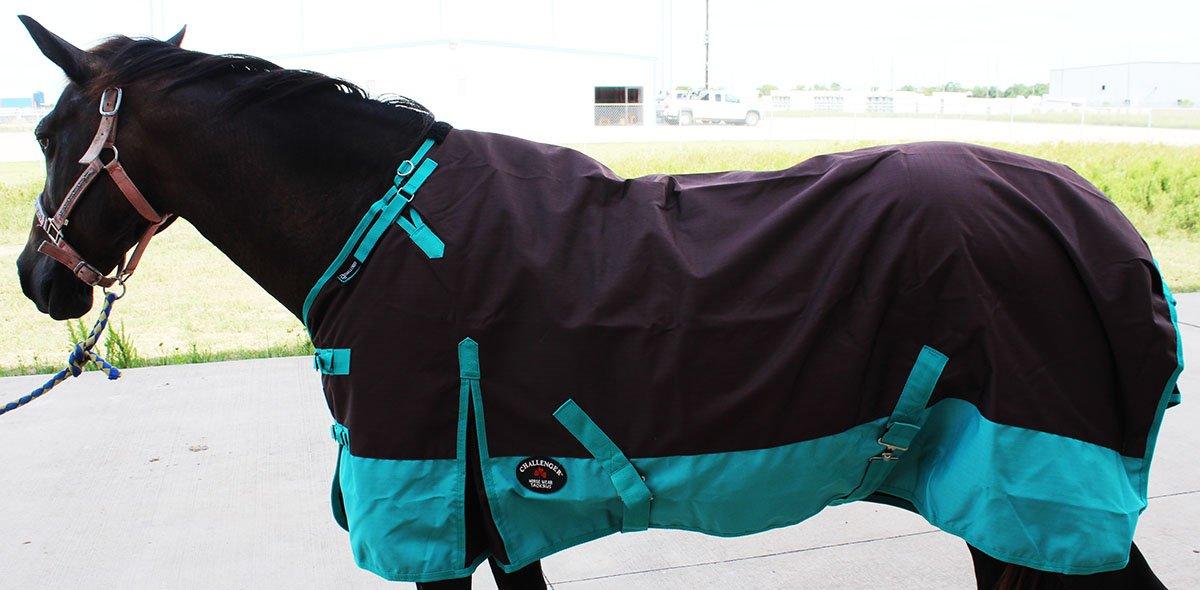 CHALLENGER 78'' 1200D Turnout Rain Horse Sheet Light Winter Blanket 371