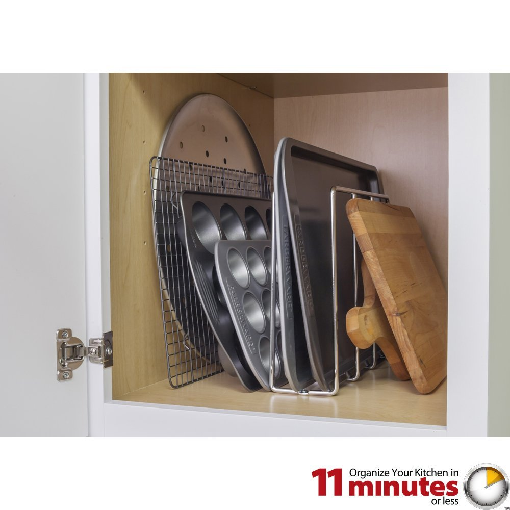 Cabinet Components Dividers Vertical U Shaped Tray Divider And Organizer Polished Chrome