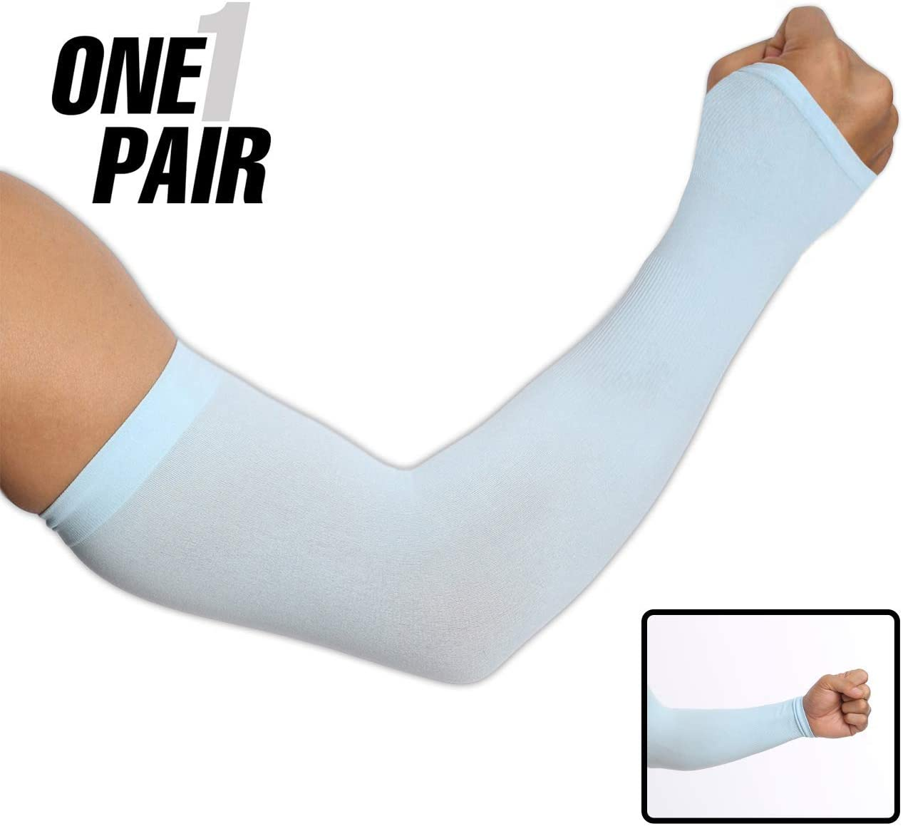 10PCS//5 pairs Sports Cooling Arm Sleeves Cover UV Sun Protection Basketball