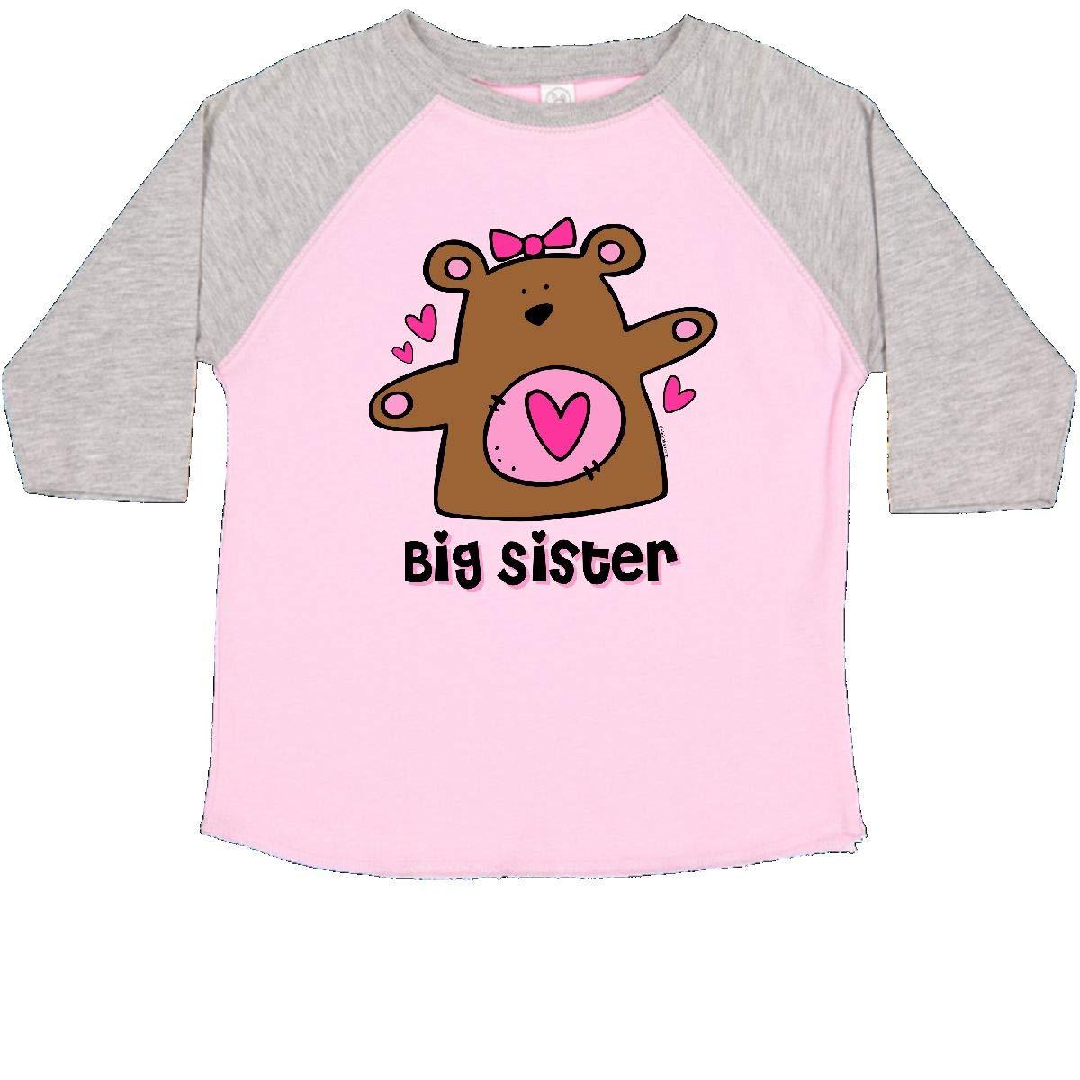 inktastic Teddy Bear Big Sister Toddler T-Shirt