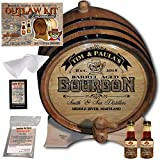 Personalized Outlaw Kit (Tennessee Bourbon Whiskey)''MADE BY'' American Oak Barrel - Design 102: Barrel Aged Bourbon - 2018 Barrel Aged Series (1 Liter)