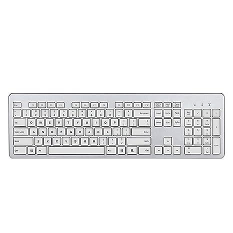 fenifox teclado inalámbrico ultrafino con teclado numérico Silencioso teclas para PC portátil Tablet