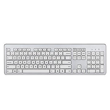 fenifox teclado inalámbrico ultrafino con teclado numérico Silencioso teclas para PC portátil Tablet: Amazon.es: Electrónica