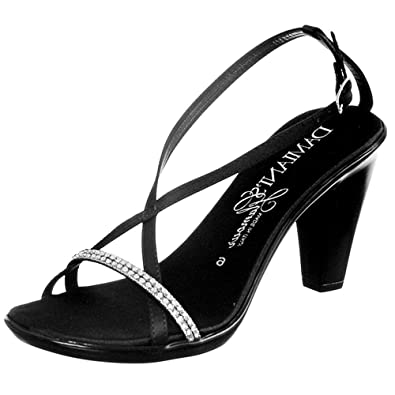 0f1ce135e Amazon.com | Damianis Womens Italian Shoemakers Women's Cross-Strap Wedge Sandals  Black | Platforms & Wedges