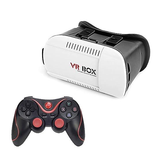bf1cfa5a8f4 VIGICA Virtual Reality VR 3D Video Glasses 4.7-6 inch Google Cardboard with Bluetooth  Game