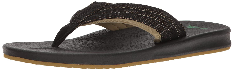 Sanuk para hombre brumeister sandalias calzado 40 Negro (black/Fatigue)