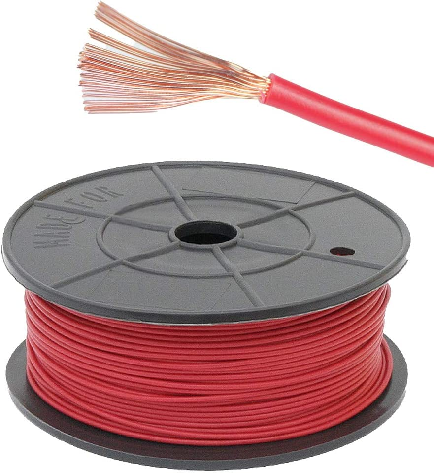 100M Reel 11 Amp Red Single Core Automarine 12V 24V Thin Wall Car Cable Wire