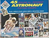 45 Genuine Postage Stamps Assortment - Astronaut