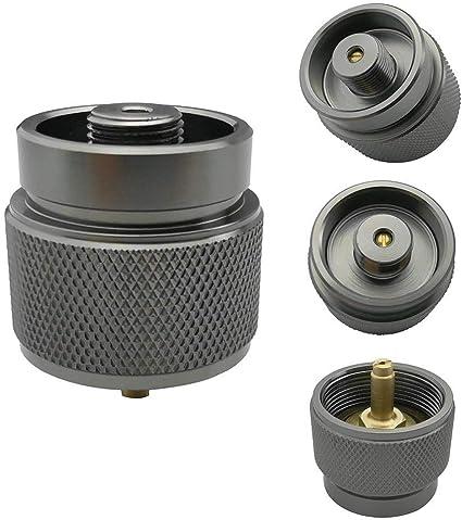 Práctico depósito de gas propano cartuchos de gas botellas adaptador exterior de camping hornillo cilindro conversión bidón adaptador estándar de ...