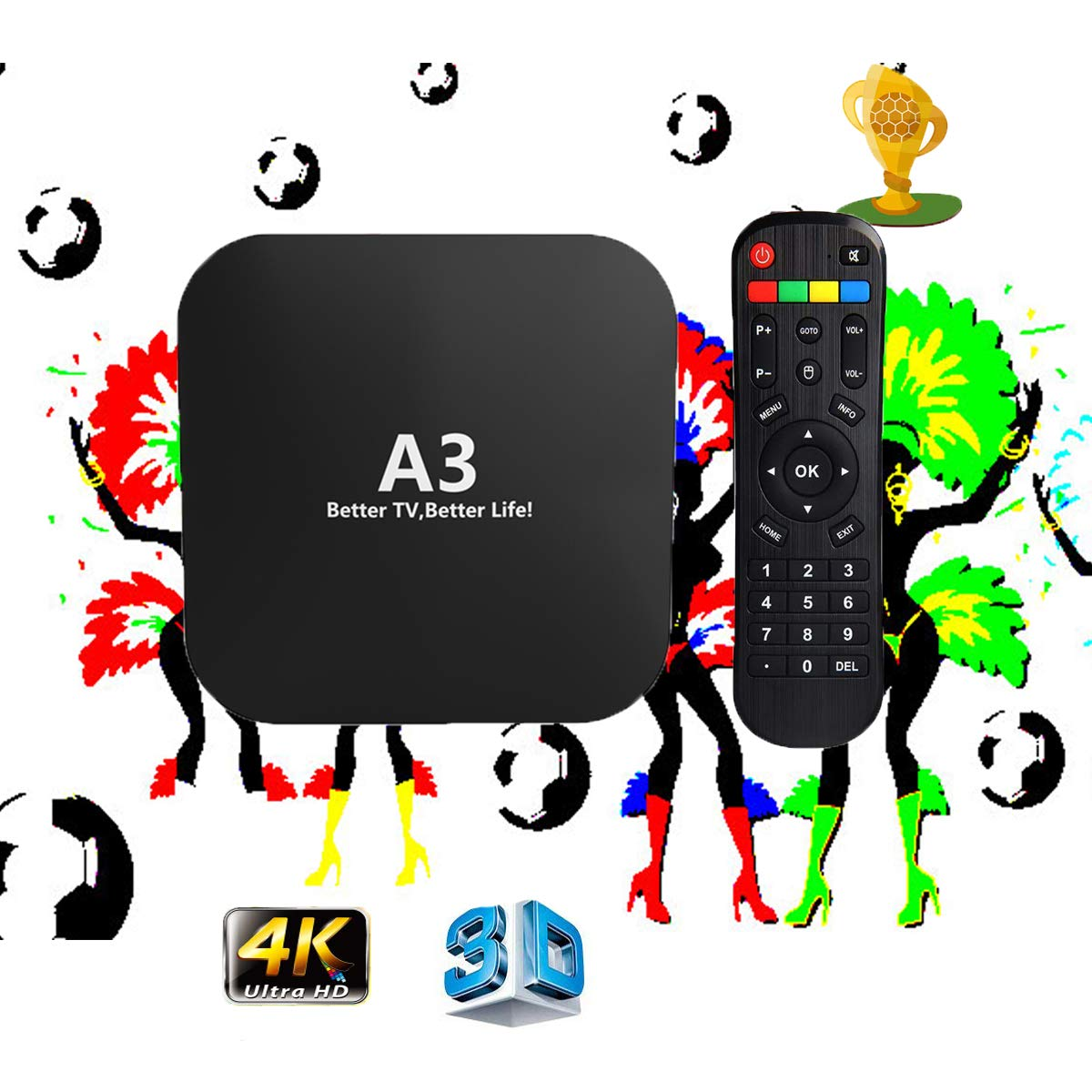 IPTV Brazilian Box New Upgraded Box Brasil Canasis TV, Brazilian Live Channels Films Movies