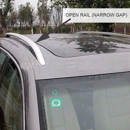 Open Roof Rails Farad Fa-Alu-340A Aero Aluminium Silver Roof Bar Set Narrow Gap