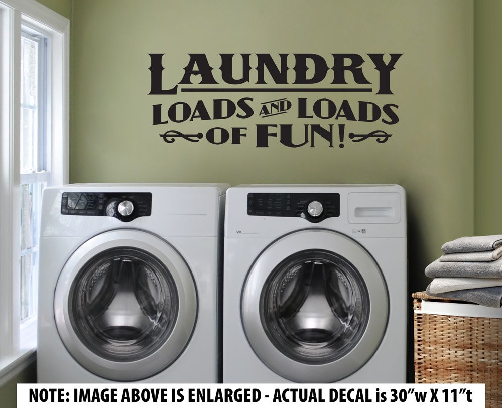 Amazon large laundry loads and loads of fun wall dcor amazon large laundry loads and loads of fun wall dcor sticker vinyl decal vintage style laundry room home kitchen amipublicfo Images