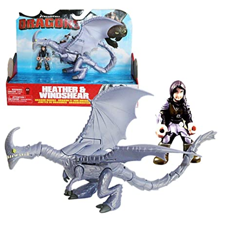 Dragons Action Spiel Set Drachen Windfang Reiter Heidrun