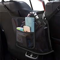 Car Handbag Holder Seat Storage Organizer Mesh Large Capacity Bag for Purse Storage Phone Documents Pocket,Barrier of…