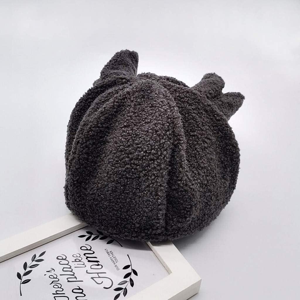Fineser Baby Girls Boys Cartoon Ears Hairball Twist Cartoon Wool Cap Warm Winter Soft Fleece Hat Earflap Knit Cap