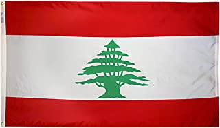 product image for Annin Flagmakers Model 194662 Lebanon Flag 3x5 ft. Nylon SolarGuard Nyl-Glo 100% Made in USA to Official United Nations Design Specifications.