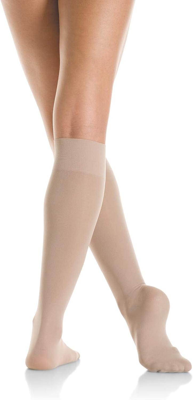 Mondor 106 Nylon Figure Skating Knee High at  Women's Clothing store: Knee Highs Hosiery