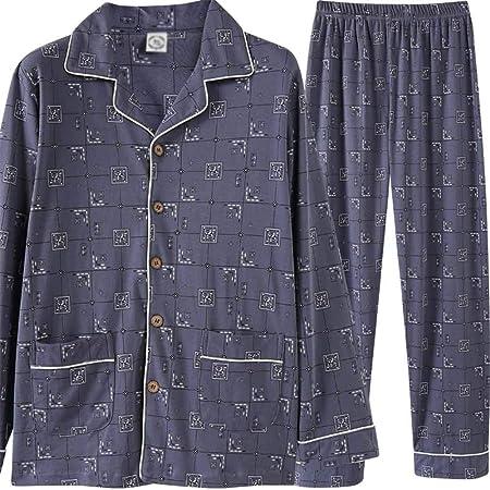 Pijamas de hombre Conjunto de pijama de los hombres pijamas Home Service Set de manga larga