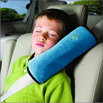Gray Soft Auto Seat Belt Strap Cover Headrest Neck Support Children Baby Safety Belt Protector Cushion Ecloud Shop/® Seatbelt Pillow Adjust Vehicle Shoulder Pads Car Seat Belt Covers Kids