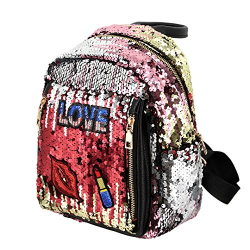 Novias Red Sequined Shoulder Girls Fashion Bags For Women Bag Party Boutique green Backpack Travel wUrqHBpgw