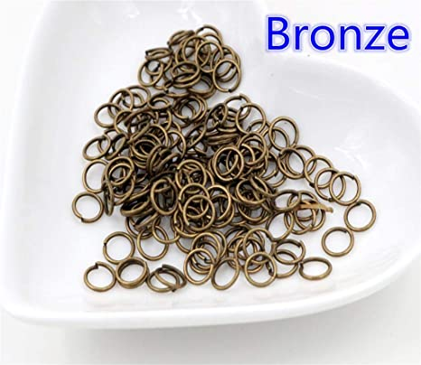 200//1000pcs Mixed Jump Rings Split Ring Connectors For Jewelry Making 6mm