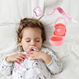 Infant Pacifiers Breastfeeding Baby, 4 Piece Set - 2pk 100% Flexy Silicone Pacifiers, 6+ Months - Pacifier Holder Case and Cl