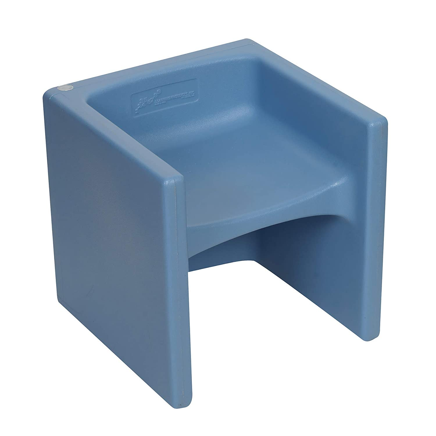 Children's Factory Cube Chair for Kids, Flexible Seating Classroom Furniture for Daycare/Playroom/Homeschool, Indoor/Outdoor Toddler Chair, Sky Blue