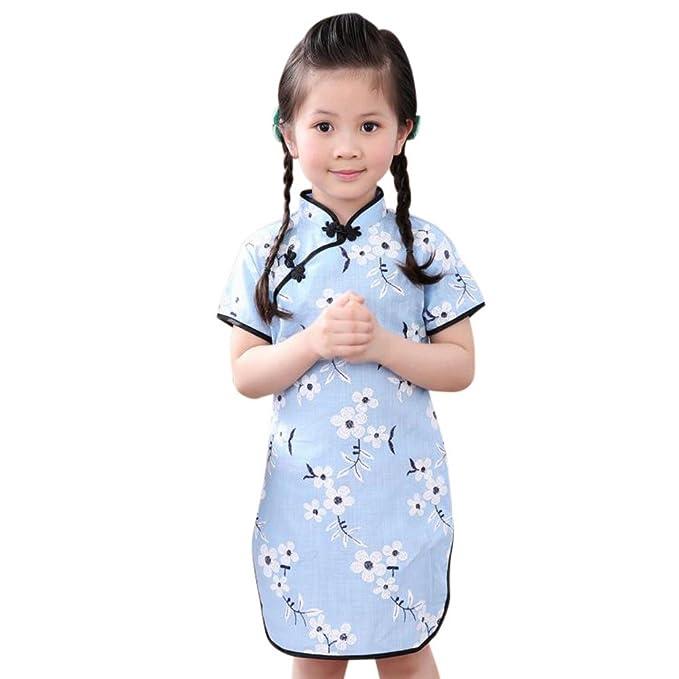 Wongfon Cheongsam Kleid Mädchen Kinder Traditionelle Chinesische ...