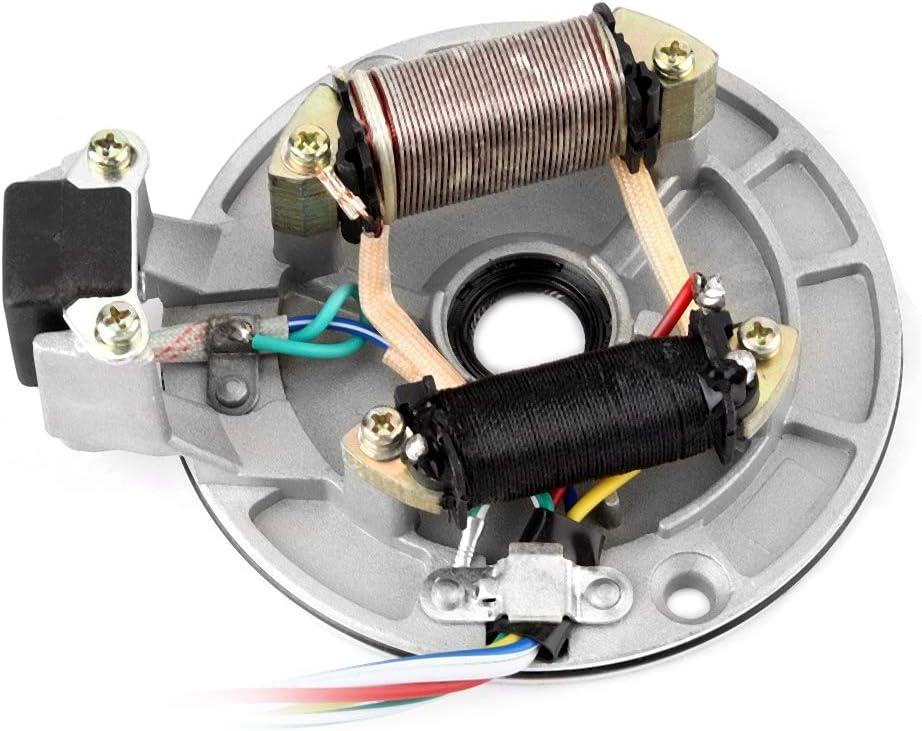 Akozon JH70 Stator Plate Pickup Magneto Ignition Coil Rotor for Pit//Dirt Bike 70cc 90cc 110cc 125cc