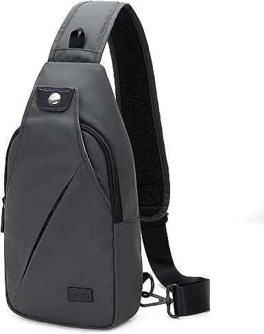 Mens Sling Bag Chest Pack Cycle Travel Sports Backpack Shoulder Crossbody Bag US