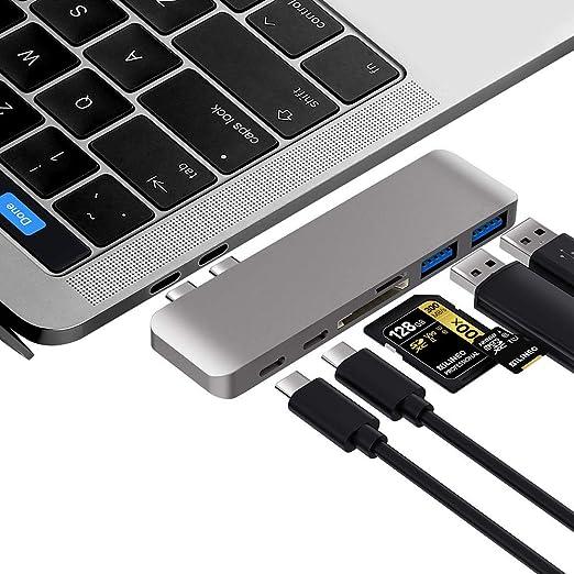 ZYLFN Hub USB C, Adaptador MacBook Pro con Carga de Paso Tipo C ...