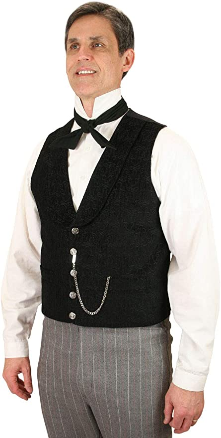 Edwardian Men's Formal Wear Mens Tapestry Heathcliff Dress Vest Historical Emporium Me $74.95 AT vintagedancer.com