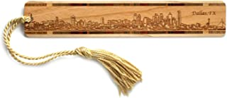 product image for Personalized Dallas, Texas Skyline - Engraved Wooden Bookmark with Tassel
