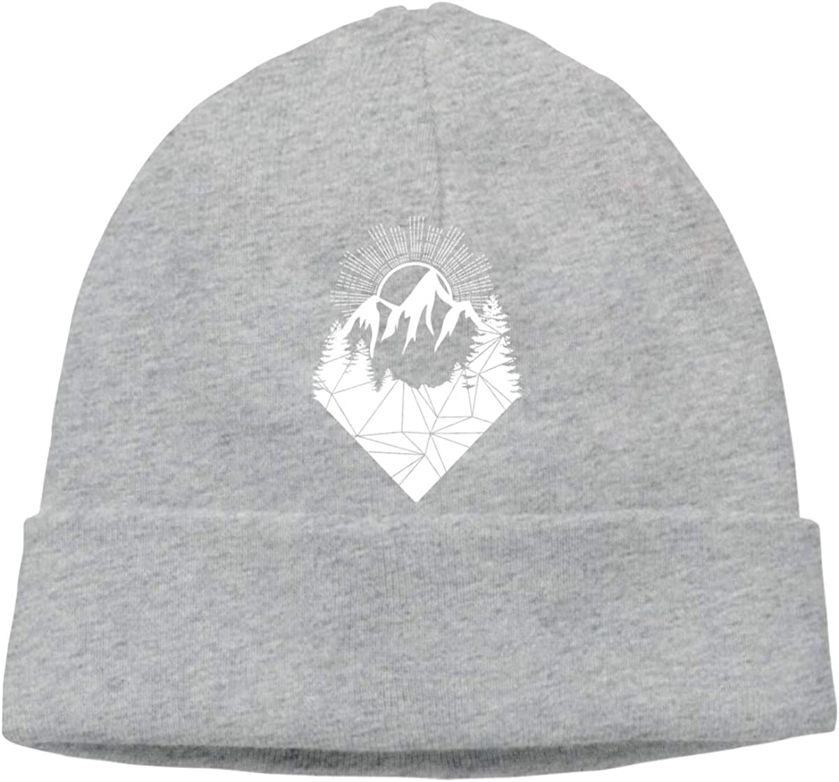 Interesting Forest Mountain Sun Beanies Hat Ski Cap Unisex