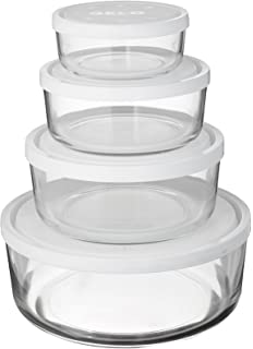 Amazoncom Bormioli Rocco Frigoverre Square Glass Food Storage