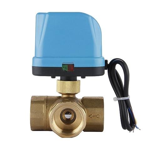 Rubinetto Deviatore A Sfera.Sodial R Dn25 G1 0 Pollici Valvola Di Zona 3 Vie 220 V Elettrico
