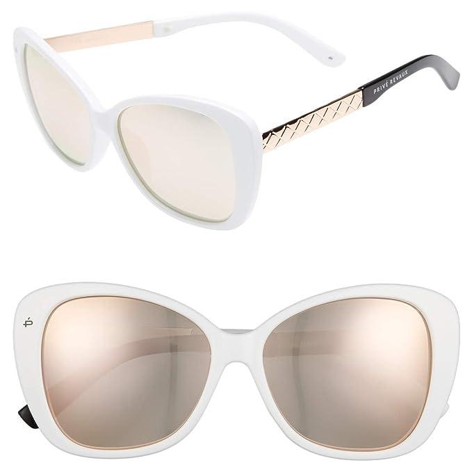 afa28047203 PRIVÉ REVAUX ICON The Jackie O. Designer Polarized Cat-Eye Sunglasses  (White)