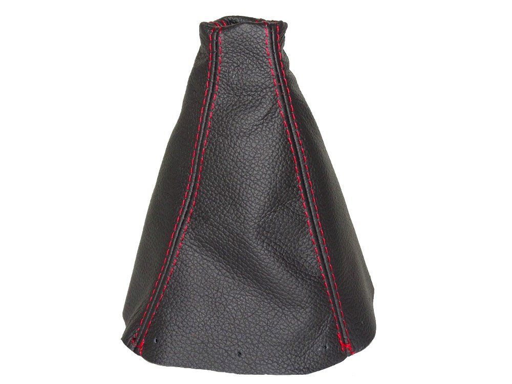 FOR HONDA S2000 2001-03 SHIFT BOOT BLACK LEATHER RED STITCHING