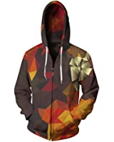 Color Blocks Zipper Hoodies Men Fleece Autumn Winter Sweatshirt Plus Size 3D Print Tracksuit Sudaderas Hombre
