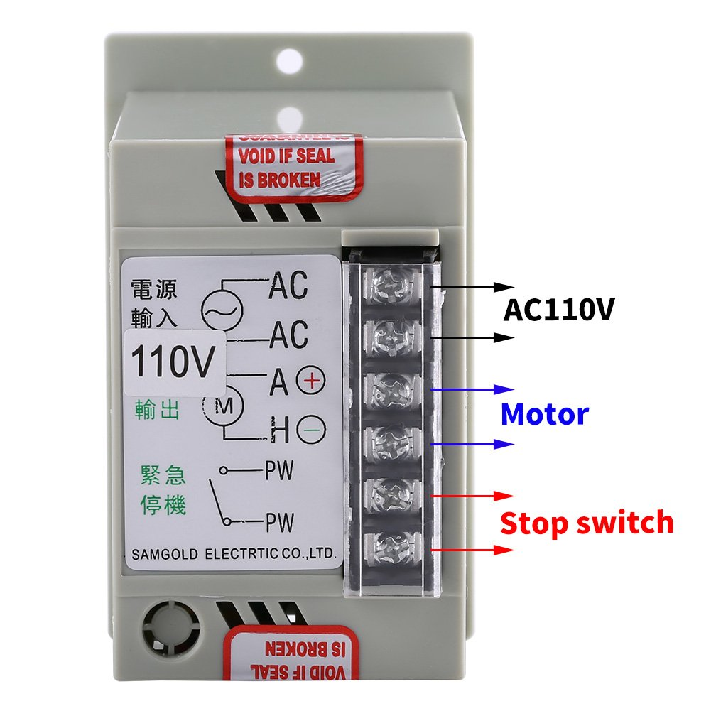 Ac 110v Input Dc 24v 90v Output Motor Speed Controller Switch 3 Phase Start Stop Wiring Diagram Electric Regulator For Permanent Magnet 400w 51 Industrial