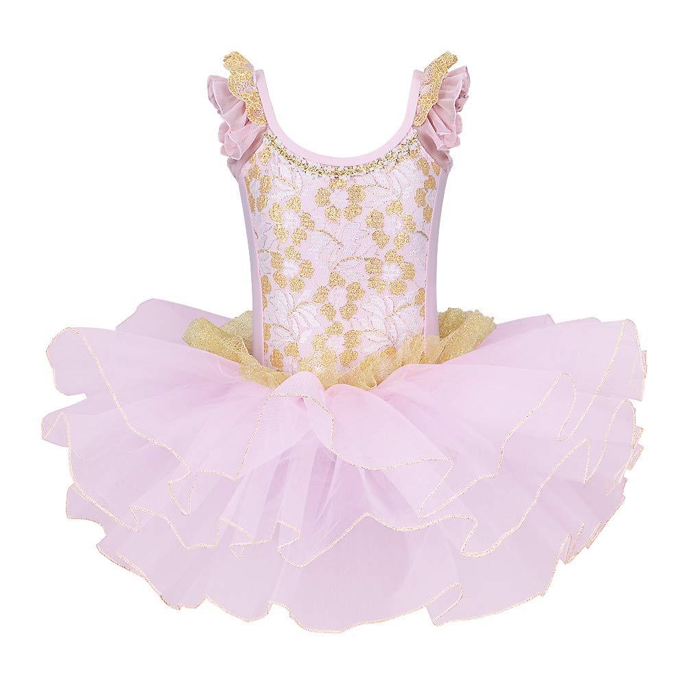 BAOHULU Girls Skirted Leotards Ballet Dance Tutu Princess Dress Ballerina Costumes B204_Pink_L by BAOHULU