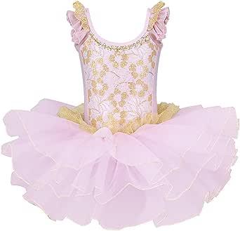 BAOHULU Girls Skirted Leotards Ballet Dance Tutu Princess Dress Ballerina Costumes B204_Pink_XL