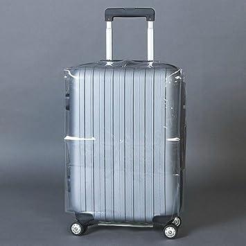 Funda para equipaje transparente, impermeable, PVC grueso, a prueba de polvo, maletas