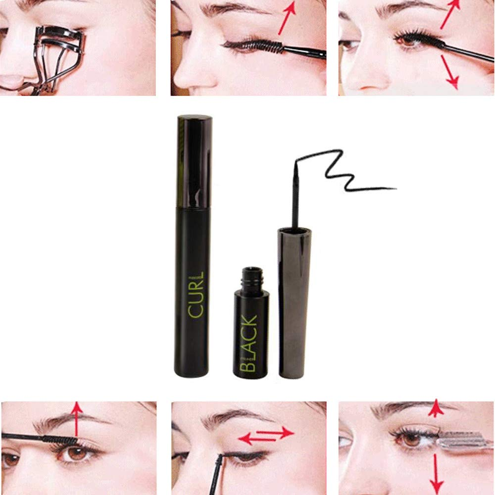 LEERYAAY Women Makeup Music Flower Waterproof Women 3D Eyeliner Curling Mascara Eye Shadow Makeup Tool by LEERYAAY (Image #2)