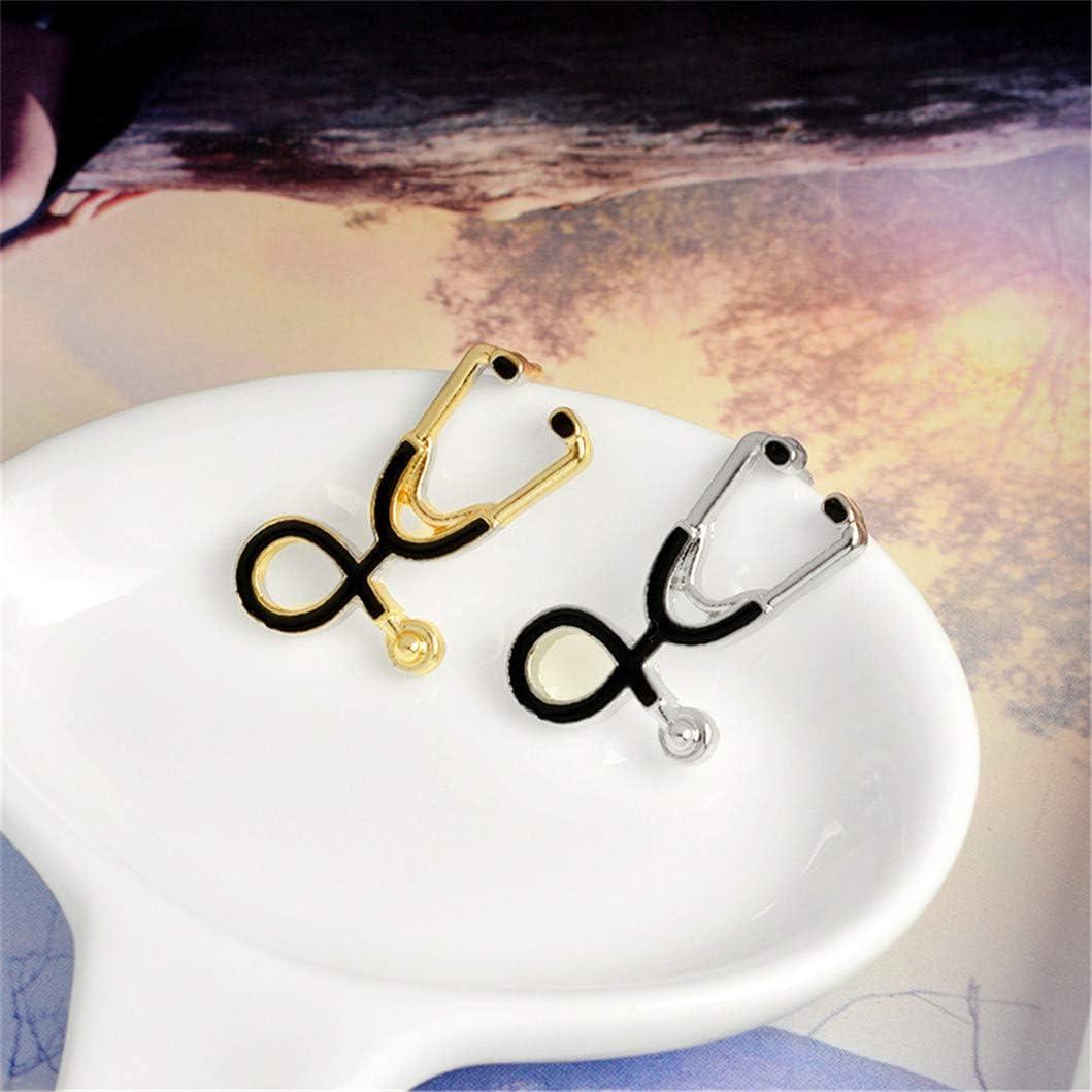 INSEET Kreative Imitation Stethoskop Brosche Pins Cartoon Emaille Broschen Rucksack Jacke Zubeh/ör