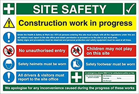 Amazon com: Seco Site Safety, Construction Work in Progress