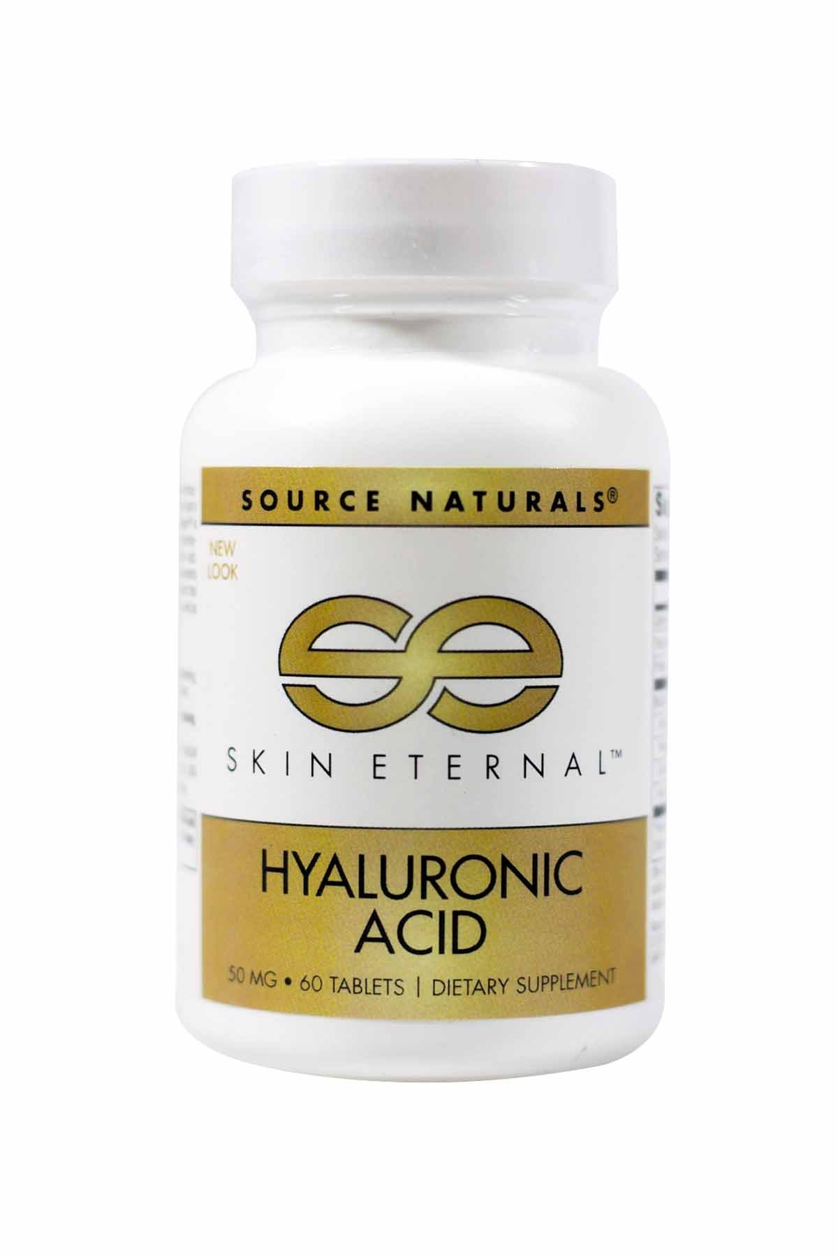 SOURCE NATURALS Skin Eternal Hyaluronic Acid Tablet, 60 Count